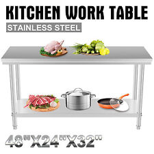610x1219mm KITCHEN WORK PREP TABLE CAFETERIA BUSINESS RESTAURANT HIGH GRADE