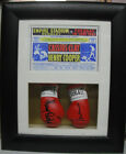 Cassuis Clay/Henry Cooper Mini Signed Boxing Gloves Framed * Muhammad Ali *