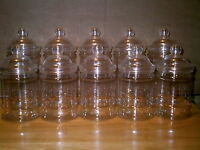 24 X EMPTY PLASTIC VICTORIAN SWEET CANDY JAR (12 Large 12 Small)