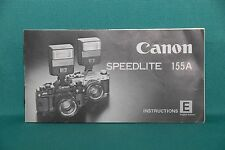 MINT Condition Orig. Owners Manual Canon Speedlite 155A