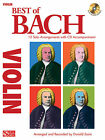 BEST OF BACH FOR VIOLIN SHEET MUSIC SONG BOOK W/CD