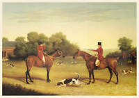FOXHOUND HUNTER HORSE KENNEL DOG FINE ART PRINT (Large)