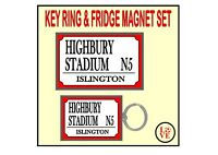Bolton Fridge Magnet & Key Ring Set