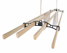 4 LATH Kitchen Maid® Pulley Clothes Airer Laundry Dryer