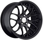 19 MRR GT7 STAGGERED MATT BLACK WHEELS 5X120 RIM BMW 325 328 330 335 M3 E90 E92