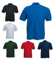 Mens 100% Cotton Rich Polo T Shirts Size XS to 4XL - WORK SPORTS CASUAL / 112