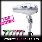 New PARLUX 3800 SILVER Hair Dryer Ceramic & Ionic Super Compact Hairdryer
