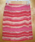 NWT womens M size 8 red khaki pink CHARTER CLUB lined silk wrap skirt