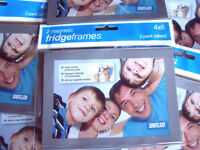 SILVER MAGNETIC PHOTO FRIDGE FRAMES (pack of 2) - GREAT GIFT IDEA