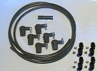 Ignition Lead Kit 6 Water Res Caps 2.5m Lead Suppres 8 Screw In Acorn & Washers