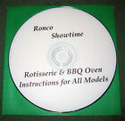 Ronco Showtime Rotisserie & BBQ Grill Oven Instructions DVD