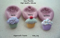 Cup Cake Silicone Mould Mold, Sugarcraft, Cake Decorating, Crafts, Fimo