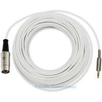 10M WHITE B&O NAIM 3.5MM JACK TO 5 PIN DIN PLUG IPOD IPHONE STEREO AUDIO CABLE