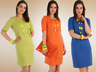 NEW Women's Classic Maternity Dress Tunic Short Sleeve Stretchy Sizes 8 -18 PA02