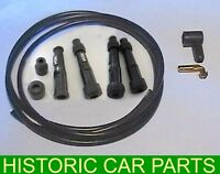 Ignition Lead Kit 4 NGK Straight Plug Caps HT Lead Angled Push In Coil