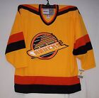 Vintage 1989 Vancouver Canucks GOLD Throwback CCM 550 Jersey Small