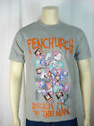 FENCHURCH MENS GREY ROUND NECK T SHIRT SIZE SMALL