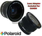POLAROID WIDE ANGLE LENS 58MM 0.42x FOR CANON T3 T3i 550D 600D 7D 60D 18-55MM