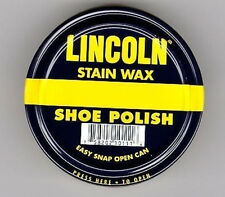 Lincoln Stain Wax, Shoe Polish- All Colors Listed!! NEW