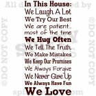 IN THIS HOUSE FAMILY WE DO LOVE FUN REAL V4 Quote Vinyl Wall Decal Decor Sticker