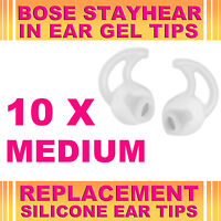 10x Silicone Replacement Medium Ear Gel Tip for Bose StayHear Earphone Headphone