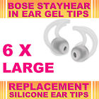 6x Silicone Replacement Large Ear Gel Tips for Bose StayHear Earphone Headphone