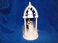 NEW WEDDING BELL ARCH  BRIDE & GROOM WITH BLACK SUIT WEDDING CAKETOPPER