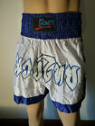 FORCE BOXING / MARTIAL ARTS MUAY THAI WHITE & BLUE SHORTS VARIOUS SIZES