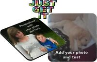 Personalised Coasters - Photo & text - gifts for Christmas/Birthdays