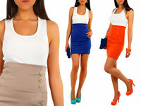 High Waist Elegant Pencil Skirt with Buttons Multicolours Size UK 8-12 FA09