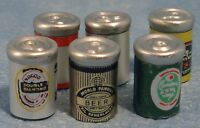Dolls House Miniature 1/12th Scale Set of 6 Beers Cans (empty scale models)
