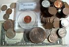 Estate Coin Collection 1 Pd Old USA With Silver Coins BIGGEST Variety Best Value