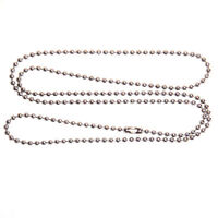 """25 Aluminum 24"""" inch BALL CHAIN NECKLACES 2.4MM Bead #3 size Dog Tag Chains lot"""