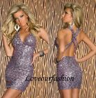 Sexy Sequin Mini Party Dress Long Top Gown Clubbing Tunic Evening Cocktail Dress
