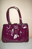 NWT Coach Soho Patent Leather Carryall Plum Below $378 Retail F19711 SOLD OUT!