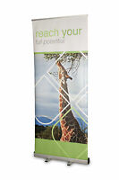 Dorset Roller Banner Stand. Exhibition. Pull Up Banner. Cheap Pop Up. 800mm Wide