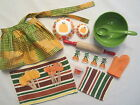 "Harvest Baking Set With Cookies And Handmade Apron - Great Size For 18"" Dolls"