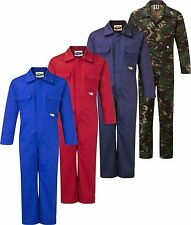 Super Strong Children's Cotton Play Suit Overall Coverall Red, Blue, Camo NEW