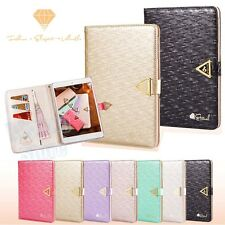 New Luxury Diamond PU Leather Wallet Flip Case Cover Stand for Apple iPad 5 Air