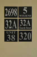 Black house plaque / sign number & house / street name foamex, silver DRILLED