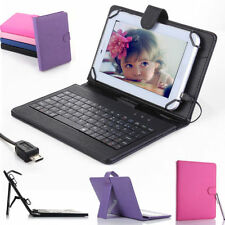"Stand Leather Case Cover USB Keyboard for 8"" inch Tablet Samsung Galaxy Note 8.0"