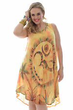 New Womens Dress Summer Ladies One Size OM Print Yoga Kaftan Holiday Nouvelle