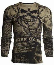 Xtreme Couture AFFLICTION Mens THERMAL T-Shirt KILLER Tattoo Biker UFC M-3XL $58