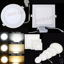 9W 12W 15W 18W 21W Dimmable Cree LED Recessed Ceiling Panel Down Light AC85-265V