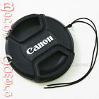 72mm 72 mm Center Snap on Front Lens cap for Canon E-72 II EF EF-S EF-M + Leash