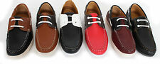 MENS FORMAL/ CASUAL SYNTHETIC DECK BOAT LOAFERS - LACES DESIGN -SIX DIFF COMBI