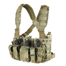 CONDOR MCR5 - Recon Chest Rig - OD BLACK TAN MULTICAM A-TACS Mandrake Highlander