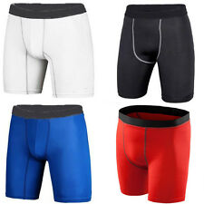 Men's Sports GYM Compression Wear Under Base Layer Shorts Pants Athletic Tights