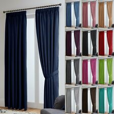 Thermal Blackout Ready Made Curtains - Dimout Energy Saving - Free Tiebacks