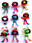 1 x RANDOM Voodoo Doll Keyring Toy in Scuba Diving Snorkel Mask Flippers Set